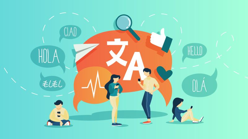 語学を教える